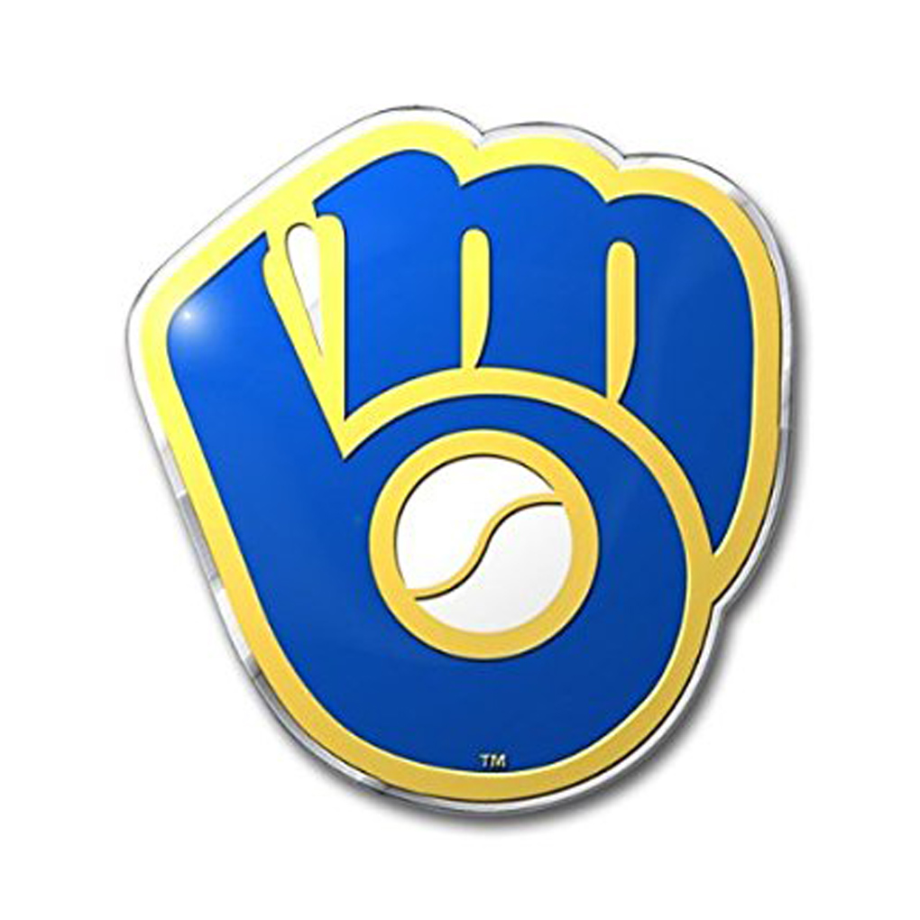 Milwaukee Brewers Emblem for Beer Tap Handle