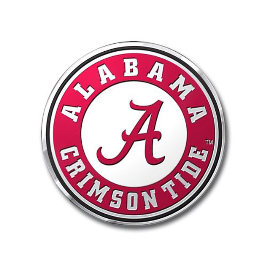 Alabama Crimson Tide Emblem for Beer Tap Handle
