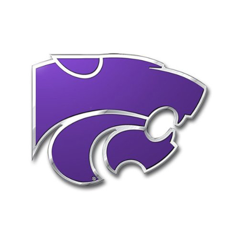kansas State Wildcats Emblem for Beer Tap Handle