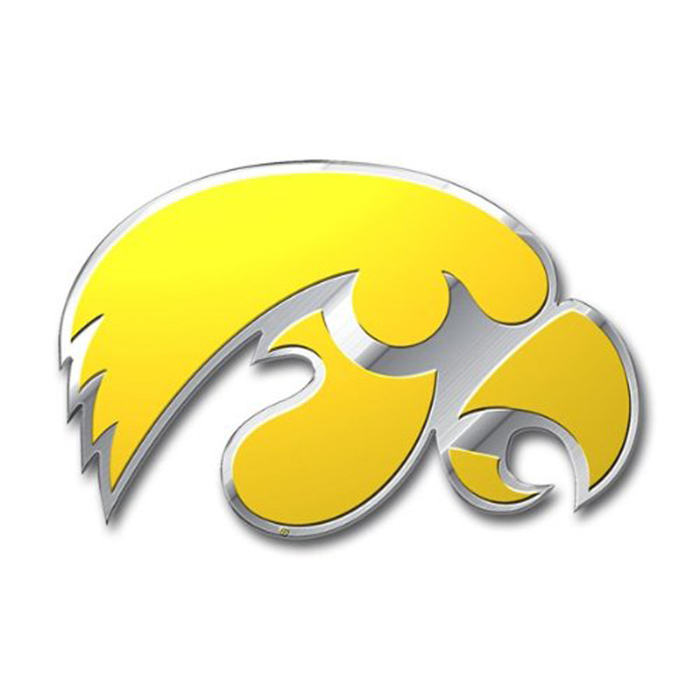 Iowa Hawkeyes Emblem for Beer Tap Handle