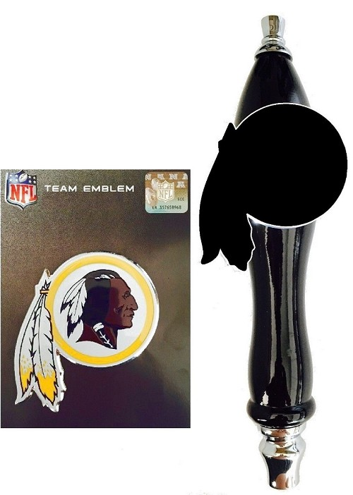 Washington Redskins Emblem & Beer Tap Handle