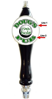 GOLF 19th HOLE BEER TAP HANDLE