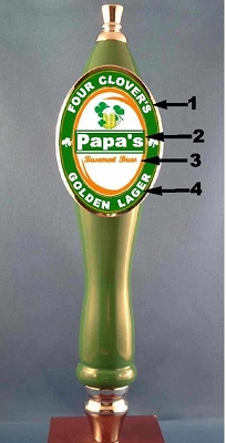 Custom Irish Tap Handle