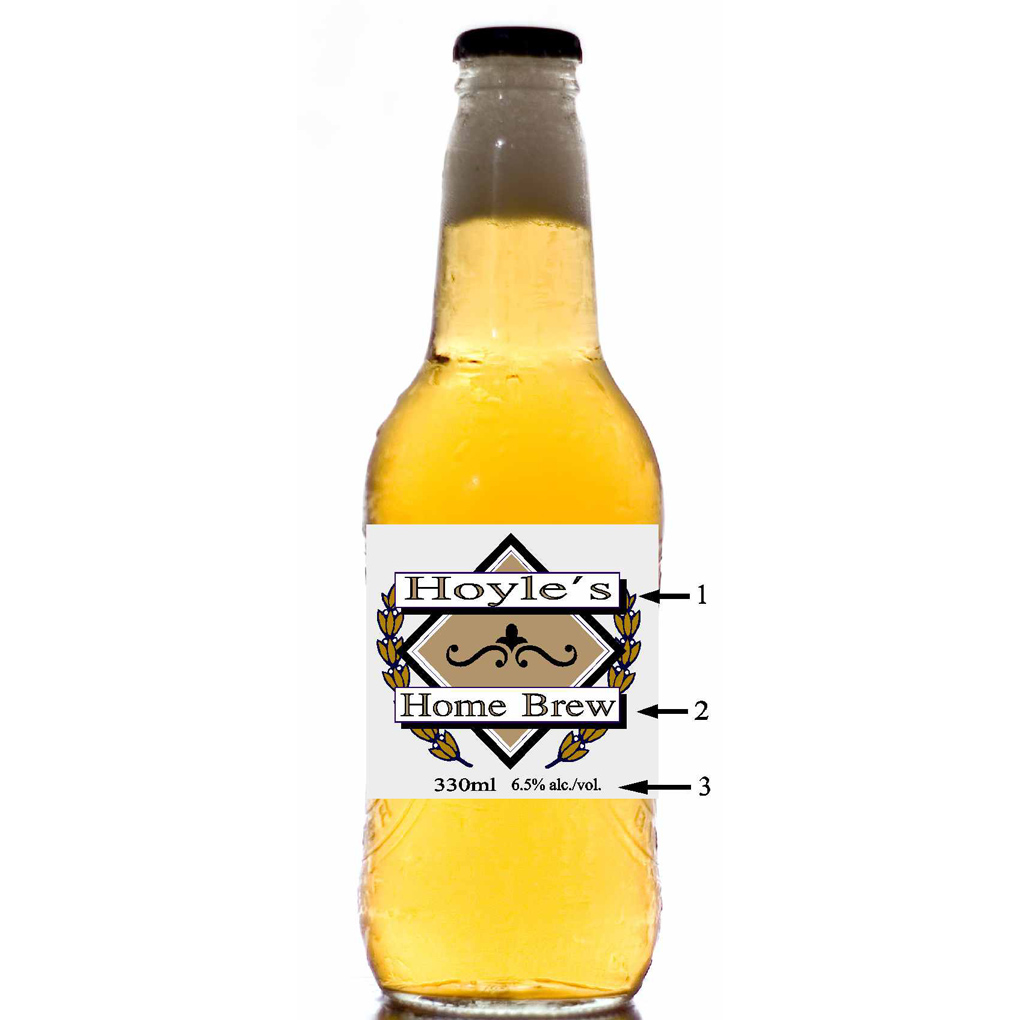 20 SET CUSTOM BEER BOTTLE LABEL style 2