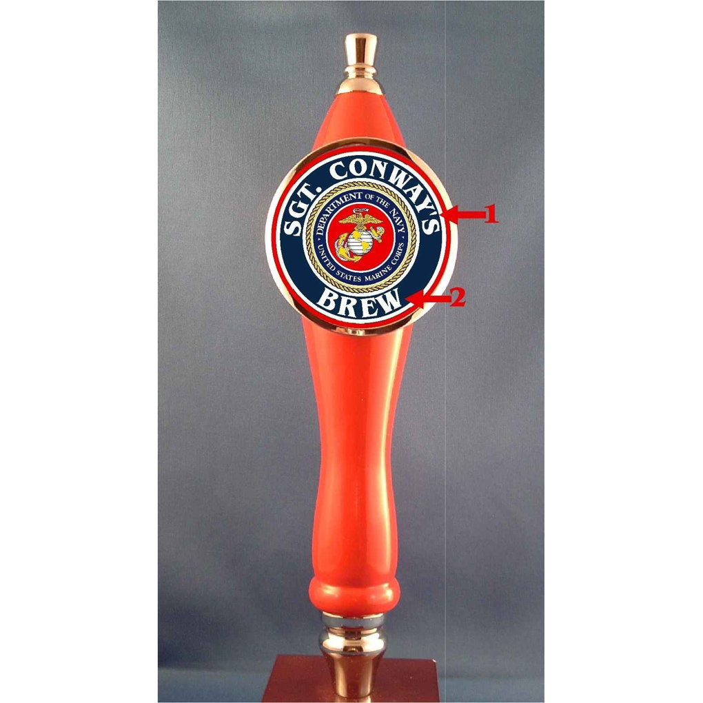 Custom Marines Beer Tap Handle