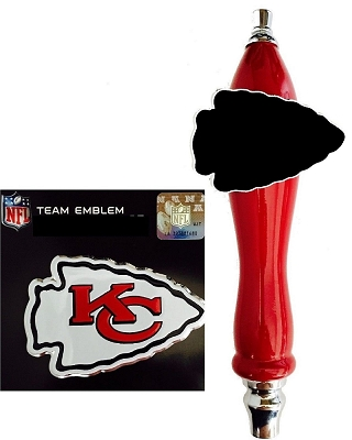 Kansas City Chiefs Football Beer Tap Handle Kit