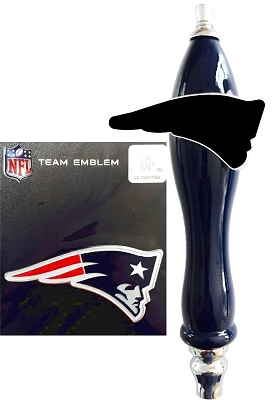 Patriots Football Beer Tap Handle Kit