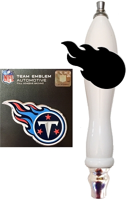 Titans Football Beer Tap Handle Kit