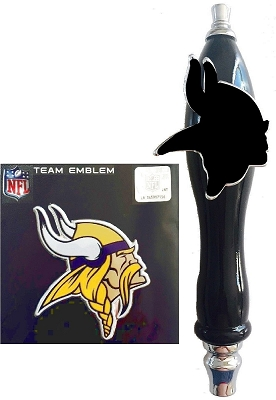 Vikings Football Beer Tap Handle Kit