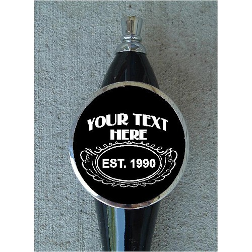 CUSTOM BLACK BEER TAP HANDLE
